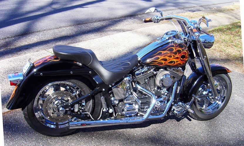 Harley davidson chrome exhaust hot ass