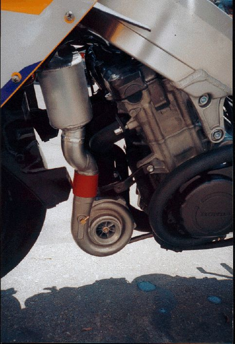 Honda CBR900RR Turbo - Left Close-up